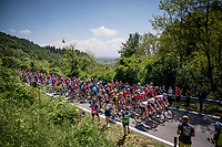 peloton up the first climb of the day<br /> <br /> Stage 12: Cuneo to Pinerolo (158km)<br /> 102nd Giro d'Italia 2019<br /> <br /> ©kramon