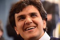 SAO PAULO, 18 DE JULHO DE 2012 - ELEICOES 2012 CHALITA - O candidato a prefeito de São Paulo Gabriel Chalita (PMDB) em visita ao Sindicato dos Motoristas e Trabalhadores Rodoviário Urbano de São Paulo , na tarde desta quarta feira, regiao central da capital. FOTO: ALEXANDRE MOREIRA - BRAZIL PHOTO PRESS