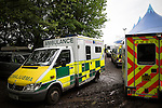 © Joel Goodman - 07973 332324 . .  12/06/2016 . Manchester , UK . Ambulances at the Parklife music festival at Heaton Park in Manchester as GMP extend an appeal to find Rebecca Dacre , 26 from Ulverston , who went missing during the festival last night (11th June 2016) . Photo credit : Joel Goodman