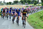 Quick-Step Floors on the front of the peloton during Stage 6 of the 2018 Tour de France running 181km from Brest to Mur-de-Bretagne Guerledan, France. 12th July 2018. <br /> Picture: ASO/Alex Broadway | Cyclefile<br /> All photos usage must carry mandatory copyright credit (&copy; Cyclefile | ASO/Alex Broadway)