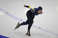SCHAATSEN: HEERENVEEN: Thialf, 4th Masters International Speed Skating Sprint Games, 25-02-2012, Barbara Heerschop (F55) 3rd, ©foto: Martin de Jong
