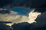Break in the clouds of a Great Plains thunder storm, late afternoon on the Great Plains of Colorado.