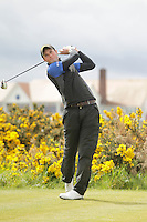 Stephen McCarthy (Black Bush) on the 15th tee during Round 3 of The Irish Amateur Open Championship in The Royal Dublin Golf Club on Saturday 10th May 2014.<br /> Picture:  Thos Caffrey / www.golffile.ie