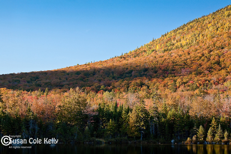 Sandy Stream Pond and South Turner Mountain in autumn, Baxter State Park, ME