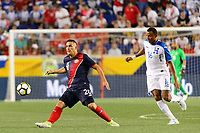 Harrison, NJ - Friday July 07, 2017: David Guzmán, Ovidio Lanza during a 2017 CONCACAF Gold Cup Group A match between the men's national teams of Honduras (HON) vs Costa Rica (CRC) at Red Bull Arena.