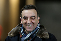 Swansea City Manaager Carlos Carvalhal arrives ahead of the Premier League match between Swansea City and Liverpool at the Liberty Stadium, Swansea, Wales on 22 January 2018. Photo by Mark Hawkins / PRiME Media Images.