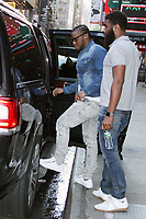 NEW YORK, NY - MAY 3: Donte Robinson and Rashon Nelson seen leaving Good Morning America after their interview regarding their Starbucks arrest in downtown Philadelphia last week after being accused of trespassing. They have since settled with Starbucks for $1 each and a $200k program for young entrepreneurs. May 3, 2018. New York City. Credit: RW/MediaPunch