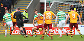 18th March 2018, Fir Park, Motherwell, Scotland; Scottish Premiership football, Motherwell versus Celtic;  Jack Hendry has a hold of Curtis Main in the penalty box as he backs in