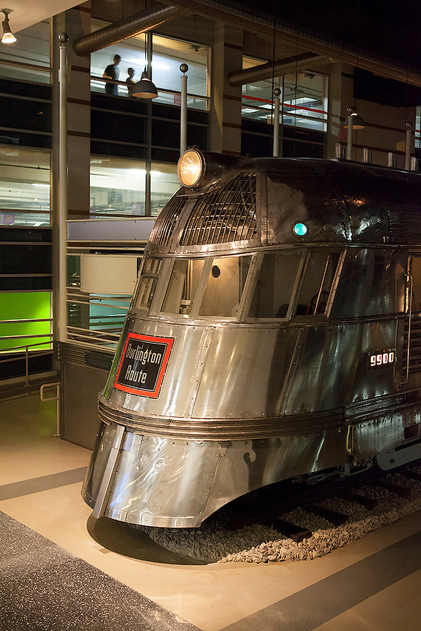 Train car from the Burlington Route, Museum of Science and Technology, Chicago, Illinois, IL, USA