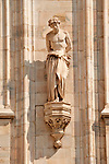 Sculpture on the facade of the Duomo (Cathedral) of Saint Celso