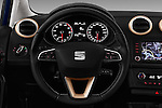 Car pictures of steering wheel view of a 2016 Seat Ibiza ST Style 5 Door Wagon Steering Wheel