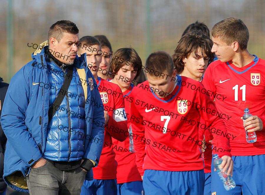 Fudbal  Reprezentacija Srbije<br /> Prijateljski mec Friendly match<br /> Srbija U17 v Croatia U17 <br /> Savo Milosevic (L)<br /> Beograd, 11.12.2013.<br /> foto: Srdjan Stevanovic/Starsportphoto &copy;