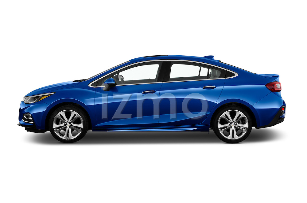 Car Driver side profile view of a 2018 Chevrolet Cruze Premier 4 Door Sedan Side View