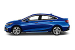 Car Driver side profile view of a 2016 Chevrolet Cruze Premier 4 Door Sedan Side View