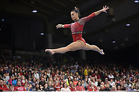 Arkansas' Sophia Carter competes Friday, Feb. 7, 2020, in the beam portion of the Razorbacks' meet with Georgia in Barnhill Arena in Fayetteville. Visit  nwaonline.com/gymbacks/ for a gallery from the meet.<br /> (NWA Democrat-Gazette/Andy Shupe)