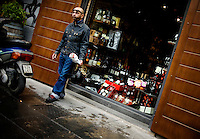 A smoker in Naples, Italy...PHOTOS/ MATT NAGER