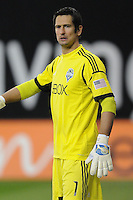 Seattle Sounders goalkeeper Michael Gspurning (1) D.C. United tied the Seattle Sounders, 0-0 at RFK Stadium, Saturday April 7, 2012.