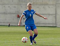 20180305 - LARNACA , CYPRUS : Finnish Juliette Kemppi pictured during a women's soccer game between Finland and Italy , on monday 5 March 2018 at the AEK Arena in Larnaca , Cyprus . This is the third game in group A for Finland and Italy during the Cyprus Womens Cup , a prestigious women soccer tournament as a preparation on the World Cup 2019 qualification duels. PHOTO SPORTPIX.BE | DAVID CATRY