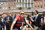 Alessandro De Marchi (ITA) BMC Racing Team at sign on in Verviers before the start of Stage 3 of the 104th edition of the Tour de France 2017, running 212.5km from Verviers, Belgium to Longwy, France. 3rd July 2017.<br /> Picture: Eoin Clarke | Cyclefile<br /> <br /> <br /> All photos usage must carry mandatory copyright credit (&copy; Cyclefile | Eoin Clarke)