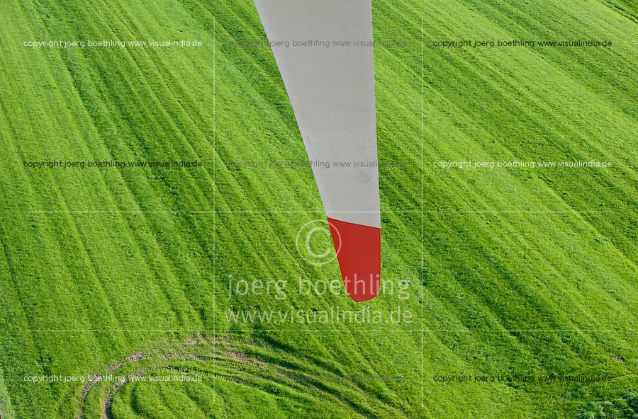 Deutschland, Rotorblatt einer Vensys Windkraftanlage in Steinburg bei Glueckstadt | GERMANY rotor blade of Vensys wind turbine