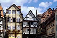 Deutschland, Sachsen-Anhalt, Fachwerkhaus in Quedlinburg, Unesco-Weltkulturerbe