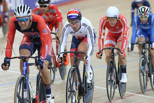 04.03.2016. Lee Valley Velo Centre, London England. UCI Track Cycling World Championships Mens Ominum Scratch.   CAVENDISH Mark (GBR)