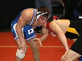 Michael Perry and Michael D'Amato wrestle at the 140 weight class during the NY State Wrestling Championships at Blue Cross Arena on March 8, 2008 in Rochester, New York.  (Copyright Mike Janes Photography)