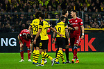 10.11.2018, Signal Iduna Park, Dortmund, GER, 1.FBL, Borussia Dortmund vs FC Bayern M&uuml;nchen, DFL REGULATIONS PROHIBIT ANY USE OF PHOTOGRAPHS AS IMAGE SEQUENCES AND/OR QUASI-VIDEO<br /> <br /> im Bild | picture shows:<br /> Sandro Wagner (Bayern #2) reklamiert bei Schiedsrichter | Referee Manuel Gr&auml;fe, <br /> <br /> Foto &copy; nordphoto / Rauch