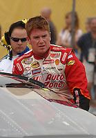 Apr 20, 2007; Avondale, AZ, USA; Nascar Busch Series driver Timothy Peters (21) during the Bashas Supermarkets 200 at Phoenix International Raceway. Mandatory Credit: Mark J. Rebilas