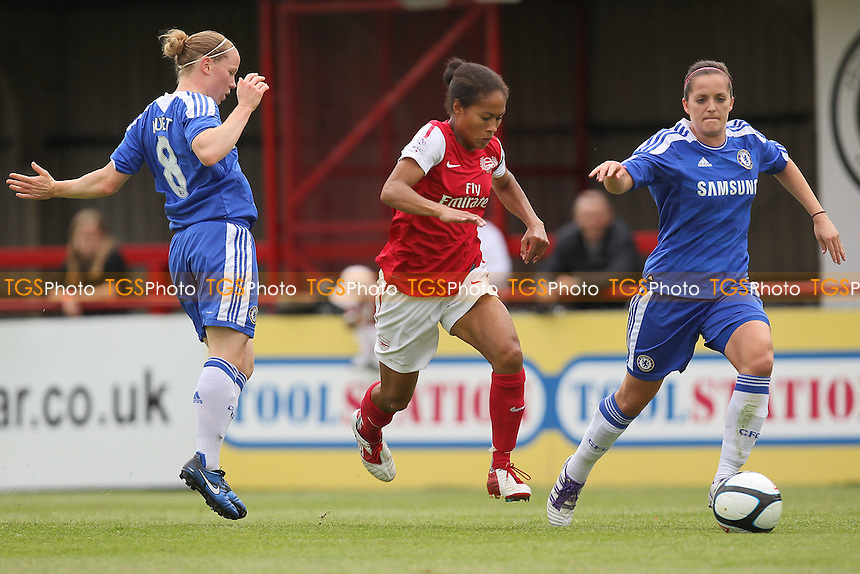 Rachel Yankey of Arsenal takes on Lara Fay of Chelsea - Arsenal Ladies vs Chelsea Ladies - FA Womens Super League Continental Cup Football at Boreham Wood FC - 10/06/12 - MANDATORY CREDIT: Gavin Ellis/TGSPHOTO - Self billing applies where appropriate - 0845 094 6026 - contact@tgsphoto.co.uk - NO UNPAID USE.