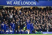 5th November 2017, Stamford Bridge, London, England; EPL Premier League football, Chelsea versus Manchester United; Eden Hazard of Chelsea applauds the fans as he is substituted for Willian of Chelsea