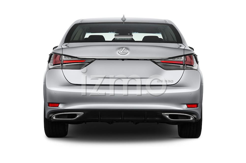 Straight rear view of 2016 Lexus GS 350 4 Door Sedan Rear View  stock images