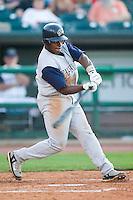 Charlotte second baseman Jason Bourgeois (10) takes his swings versus Louisville at Louisville Slugger Field in Louisville, KY, Tuesday, June 5, 2007.