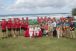 HRH Prince Charles & Duchess of Cornwall meeting officials and athletes of Team Wales.<br /> <br /> *This image must be credited to Ian Cook Sportingwales and can only be used in conjunction with this event only*<br /> <br /> 21st Commonwealth Games  -  Day 1- 05\04\2018 - Kurrawa Surf Club - Gold Coast City - Australia