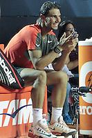 RIO DE JANEIRO, RJ, 23.02.2014 - O espanhol Rafael Nadal omemora o título do Rio Open após vencer a final masculina contra o ucraniano Alexandr Dolgopolov na quadra central do Jockey Club neste domingo. (Foto: Néstor J. Beremblum / Brazil Photo Press).