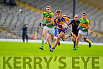 Brendan O'Sullivan South Kerry in Action against Adrian Spillane Kenmare in the County Senior Football Semi Final at Fitzgerald Stadium Killarney on Sunday.