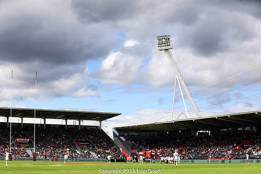 Genaral view of Ernest Wallon Stadium during the Top 14 match between Toulouse and Pau at Stade Ernest Wallon on May 4, 2019 in Toulouse, France. (Photo by Manuel Blondeau/Icon Sport)