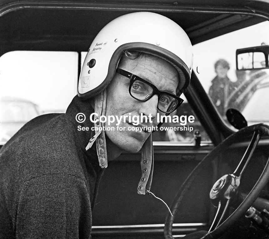 Mervyn Rolls, racing driver, N Ireland, September, 1967, 196709000144<br />