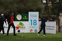 Francesco Laporta (ITA) on the 18th tee during Round 4 of the Challenge Tour Grand Final 2019 at Club de Golf Alcanada, Port d'Alcúdia, Mallorca, Spain on Sunday 10th November 2019.<br /> Picture:  Thos Caffrey / Golffile<br /> <br /> All photo usage must carry mandatory copyright credit (© Golffile | Thos Caffrey)
