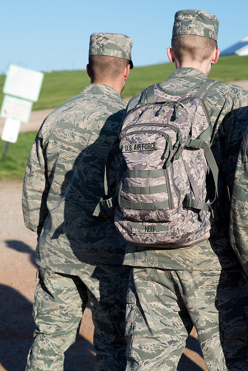 Airforce cadets meet at the ridges for their mobile exercise the morning of Saturday April 16, 2016. Photo by Ohio University / Kaitlynn Stone