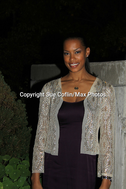 """One Life To Live's Kearran Giovanni """"Dr. Vivian Wright"""" attends ABC Daytime Soap Casino Night with the Stars on October 28, 2010 at Guastavinos, New York City, New York. (Photo by Sue Coflin/Max Photos)"""