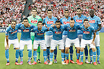 SSC Napoli's team photo during Champions League 2014/2015 Play-off 2nd leg match.August 27,2014. (ALTERPHOTOS/Acero)
