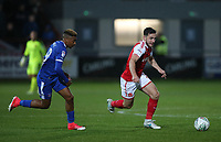 Fleetwood Town's Lewis Coyle makes a break <br /> <br /> Photographer Andrew Kearns/CameraSport<br /> <br /> The Carabao Cup First Round - Fleetwood Town v Carlisle United Kingdom - Tuesday 8th August 2017 - Highbury Stadium - Fleetwood<br />  <br /> World Copyright &copy; 2017 CameraSport. All rights reserved. 43 Linden Ave. Countesthorpe. Leicester. England. LE8 5PG - Tel: +44 (0) 116 277 4147 - admin@camerasport.com - www.camerasport.com