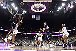 COLUMBUS, OH - APRIL 1: Jackie Young #5 of the Notre Dame Fighting Irish shoots over Victoria Vivians #35 of the Mississippi State Bulldogs during the championship game of the 2018 NCAA Division I Women's Basketball Final Four at Nationwide Arena in Columbus, Ohio. (Photo by Justin Tafoya/NCAA Photos via Getty Images)