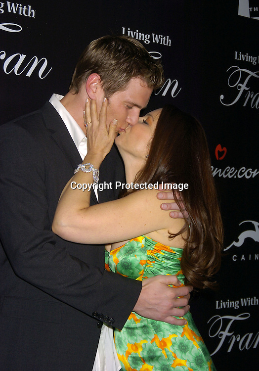 "Ryan McPartlin and Fran Drescher ..at The Premiere Party for ""Living with Fran""  sponsored by ..Pureromance.com on April 8, 2005 at Cain Lounge. ..Photo by Robin Platzer, Twin Images"