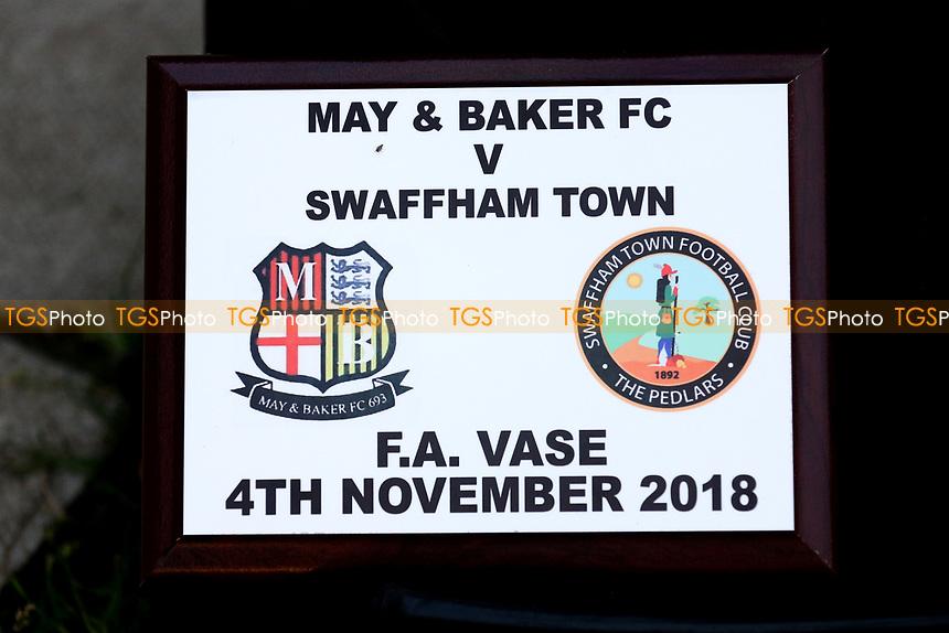 Match memorabilia during May & Baker vs Swaffham Town, Buildbase FA Vase Football at Gale Street on 4th November 2018