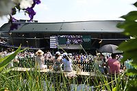 A general view at Wimbledon<br /> <br /> Photographer Rob Newell/CameraSport<br /> <br /> Wimbledon Lawn Tennis Championships - Day 6 - Saturday 7th July 2018 -  All England Lawn Tennis and Croquet Club - Wimbledon - London - England<br /> <br /> World Copyright &not;&copy; 2017 CameraSport. All rights reserved. 43 Linden Ave. Countesthorpe. Leicester. England. LE8 5PG - Tel: +44 (0) 116 277 4147 - admin@camerasport.com - www.camerasport.com