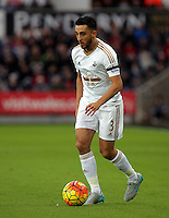 Neil Taylor of Swansea during the Barclays Premier League match between Swansea City and Bournemouth at the Liberty Stadium, Swansea on November 21 2015