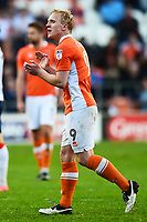 Blackpool's Mark Cullen applauds as he is substituted<br /> <br /> Photographer Richard Martin-Roberts/CameraSport<br /> <br /> The EFL Sky Bet League Two Play-Off Semi Final First Leg - Blackpool v Luton Town - Sunday May 14th 2017 - Bloomfield Road - Blackpool<br /> <br /> World Copyright &copy; 2017 CameraSport. All rights reserved. 43 Linden Ave. Countesthorpe. Leicester. England. LE8 5PG - Tel: +44 (0) 116 277 4147 - admin@camerasport.com - www.camerasport.com