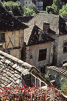 Europe/France/Midi-Pyrénées/46/Lot/Vallée du Lot/Saint-Cirq-Lapopie : Village médiéval<br /> PHOTO D'ARCHIVES // ARCHIVAL IMAGES<br /> FRANCE 1990